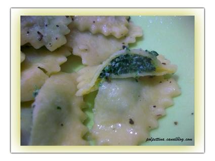 Recette de raviolis maison farcis aux épinards et à la ricotta
