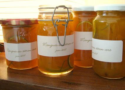 Recette de marmelade de mangues au citron vert