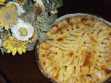 Recette tarte aux pommes à l'alsacienne pour 6 personnes