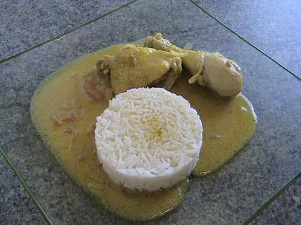 Recette de poulet sauce curry gingembre et coco