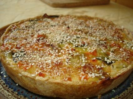 Recette de tarte aux poireaux-carottes