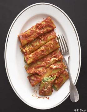Cannellonis au broccio et menthe pour 4 personnes