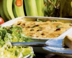 Recette gratin de bananes vertes, tomates et gingembre