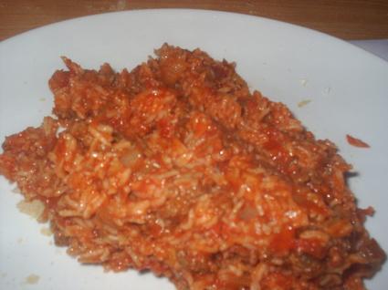 Recette de riz à la tomate et viande hachée