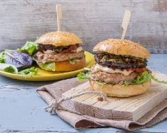 Recette burgers de veau aux aubergines grillées et pesto