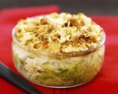 Crumble courgettes, fromage ail et fines herbes | cuisine az