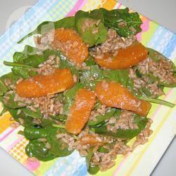 Recette salade de riz complet à l'orange – toutes les recettes ...