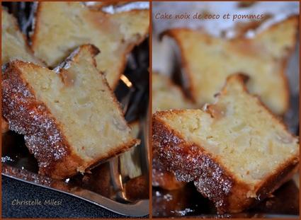 Cake aux pommes et noix de coco