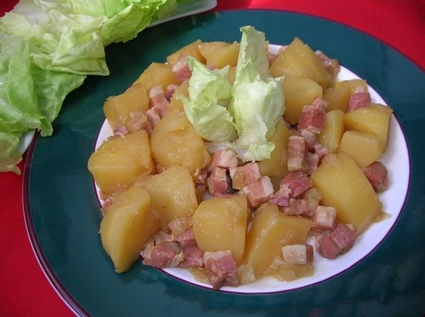 Recette de pommes de terre au lard fumé