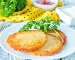 Recette pancake froide de pommes de terre au gruyère