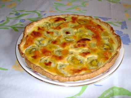 Recette de tarte aux kiwis et confiture d'abricots