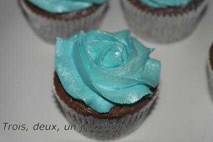 Recette de cupcakes chocolat, glaçage mascarpone