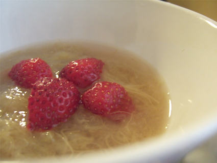 Recette de compote de rhubarbe et fraises