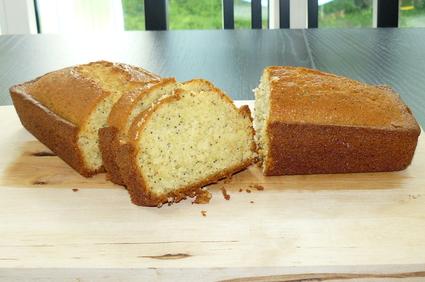Recette de cake au citron et graines de pavot