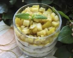 Recette verrine de fromage blanc, pommes et petit beurre