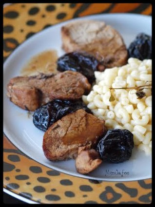 Recette de filet mignon aux pruneaux