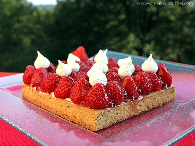 Tarte aux fraises et sa chantilly au mascarpone  recette de cuisine ...