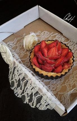 Recette de tarte fraise romarin