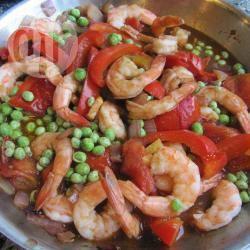 Recette crevettes asiatiques au gingembre, poivron et autres ...