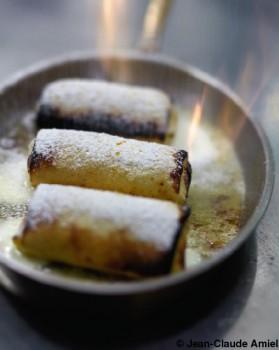 Crêpes fourrées au kirsch d'alsace du restaurant metzger pour 6 ...