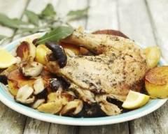 Recette poulet en cocotte aux champignons et aux pommes de terre