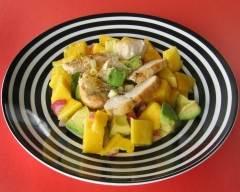 Recette salade d'avocat, mangue et poulet grillé