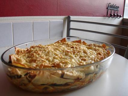 Recette de lasagnes aux courgettes et boeuf haché
