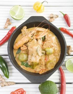 Curry de fruits de mer au lait de coco pour 4 personnes