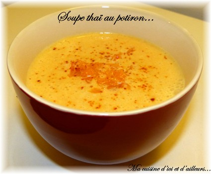 Recette de soupe thaï au potiron