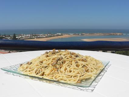 Recette de spaghettis aux coques