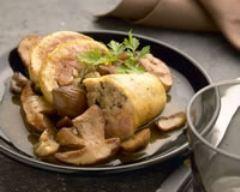 Recette jambonnette de volaille au foie gras et aux marrons