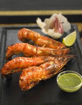 Crevettes au curry et citron vert pour 2 personnes