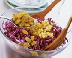 Recette salade de chou rouge aux raisins golden