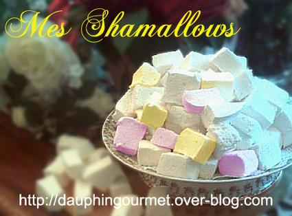 Recette de shamallows (pâte de guimauve)