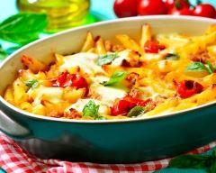 Recette gratin de pâtes facile aux tomates