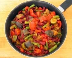 Recette ratatouille de légumes et haricots