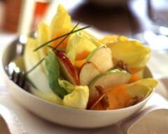 Recette salade d'endives aux pommes, noix et mimolette