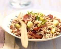 Recette risotto de riz de camargue igp aux courgettes et au chorizo