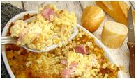 Recette de gratin de coquillettes au jambon et au fromage