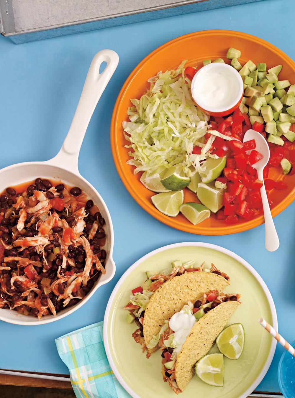 Tacos de poulet aux haricots noirs | ricardo