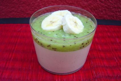 Recette de crème au lait de coco kiwi et bananes