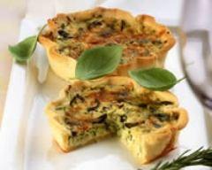 Recette quiche aux courgettes et aux olives