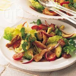 Recette salade de volaille à l'avocat en vinaigrette balsamique ...