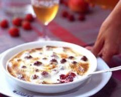 Recette gratin de fraises au fromage blanc 0%