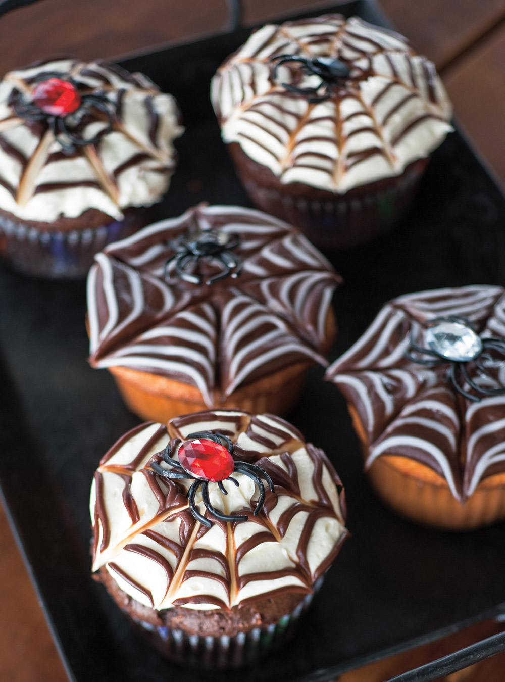 Cupcakes toile d'araignée   ricardo