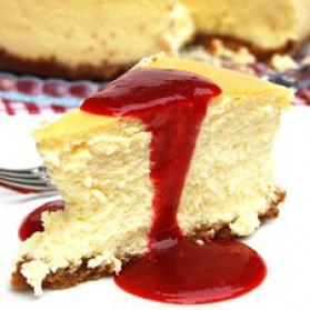 Parfait gâteau au fromage, coulis de fraises à l'érable pour 1 ...