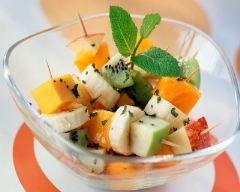 Recette salade de fruits en brochettes
