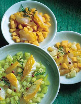 Salades de melons au haddock pour 4 personnes