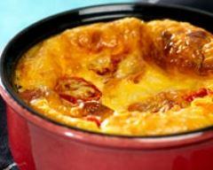 Recette clafoutis de tomates cerises et emmental