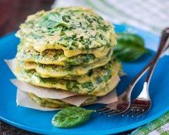 Recette pancakes salés aux épinards et ricotta